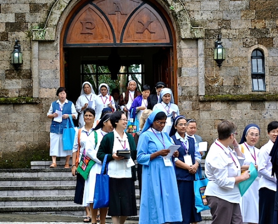 Nuns from around  the region opened their 16th Asia-Oceania Meeting of Women Religious  with a Mass at the Benedictine Sisters' St. Scholastica's House of Prayer, Tagaytay City, Philippines. NJ Viehland Photos.