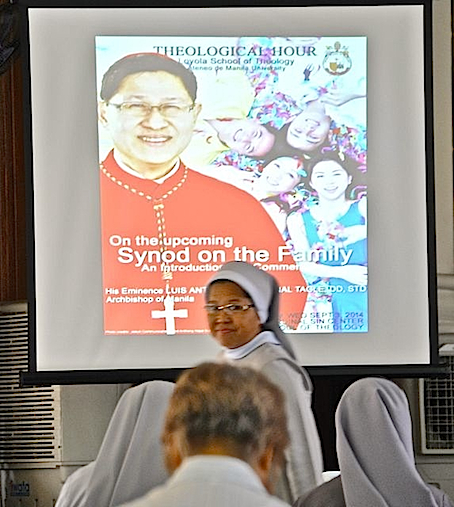 Nuns were among people who attended Cardinal Luis Antonio Tagle's lecture at Loyola School of Theology Sept. 3, 2014 - NJ Viehland Photos