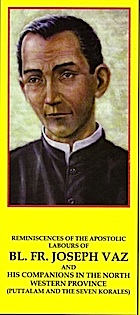 Joseph Vaz devotion card